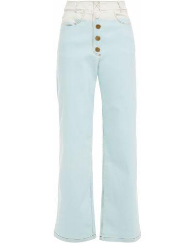 Синие широкие джинсы свободного кроя с поясом Rejina Pyo