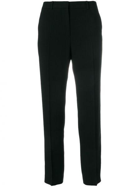 Черные укороченные брюки с поясом Mantu