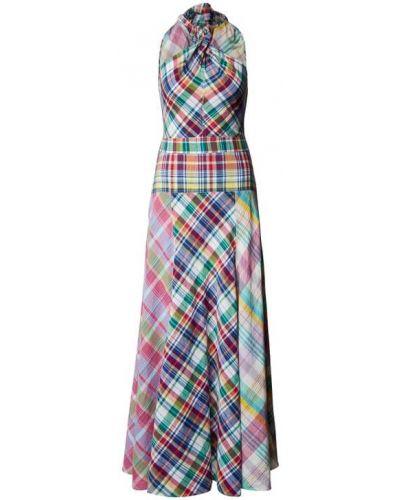 Fioletowa sukienka rozkloszowana bez rękawów Polo Ralph Lauren