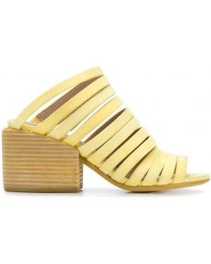 Желтые мюли на каблуке Marsèll