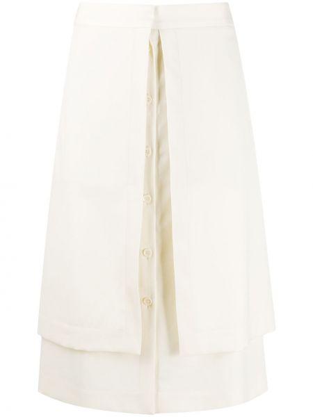 Bawełna wełniany z wysokim stanem spódnica z kieszeniami Lemaire