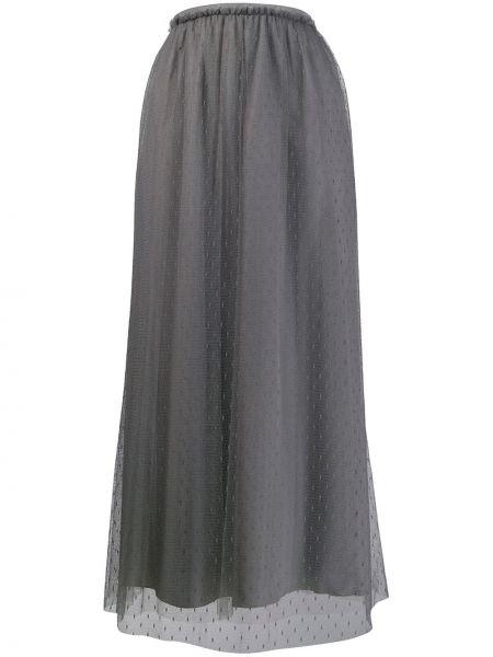 Ażurowa spódnica maxi z wysokim stanem tiulowa Red Valentino