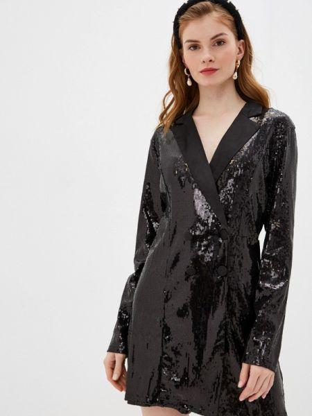 Вечернее платье осеннее черное Nice & Chic