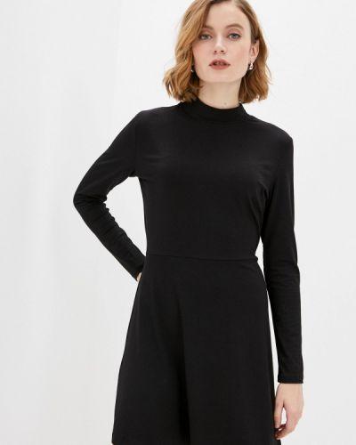 Прямое черное платье А-силуэта Befree