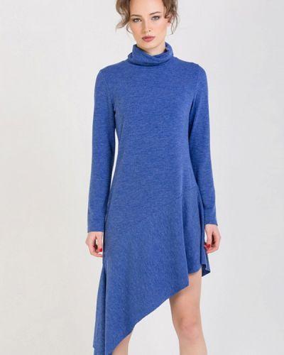 Вязаное синее платье Lada Kalinina