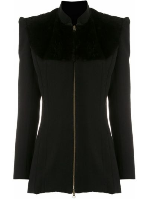 Длинное пальто - черное À La Garçonne
