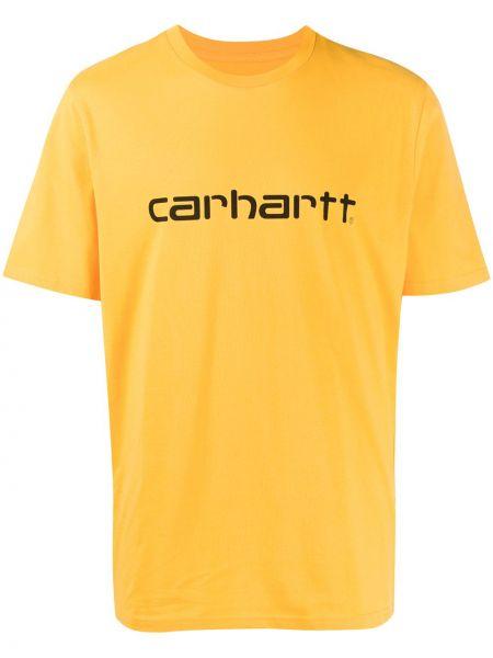 Koszula krótkie z krótkim rękawem z logo z nadrukiem Carhartt Wip