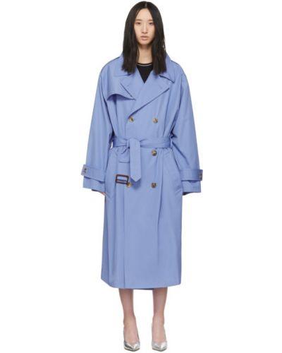 Z rękawami długo płaszcz z kieszeniami dwurzędowy z kołnierzem Maison Margiela