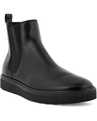 Черные кожаные ботинки челси Ecco