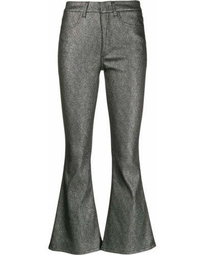 Свободные брюки с накладными карманами расклешенные Dondup