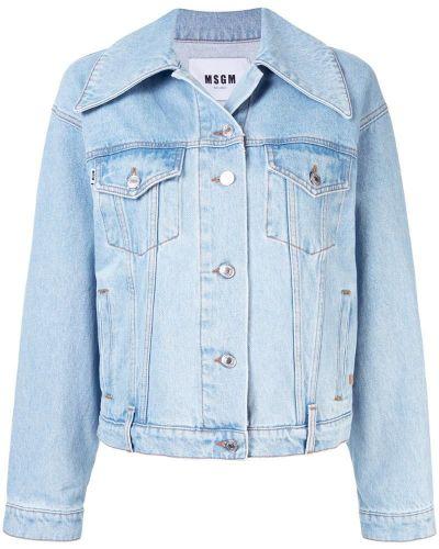 Джинсовая куртка на пуговицах с карманами Msgm