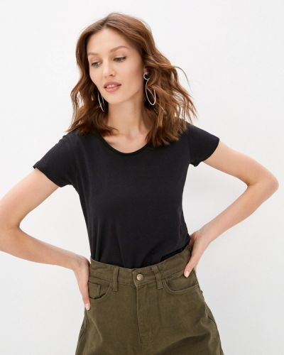 Черная футболка с короткими рукавами Zabaione