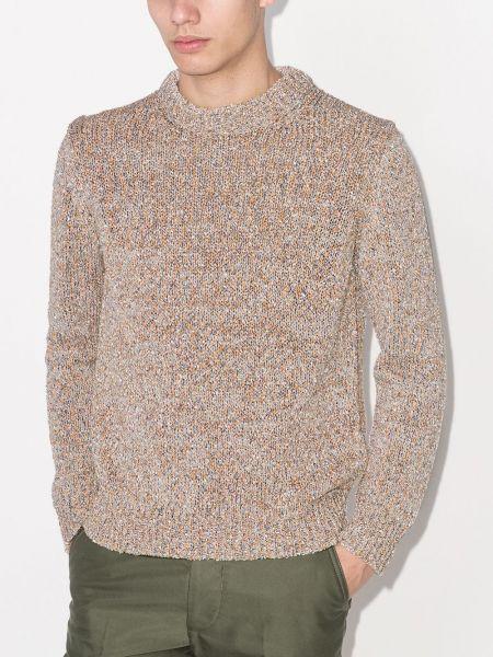 Акриловый оранжевый вязаный свитер Salvatore Ferragamo