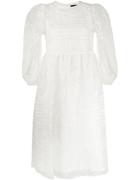 Платье макси с вышивкой с цветочным принтом Simone Rocha