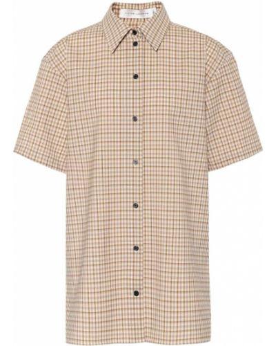 Рубашка стрейч с жемчугом Victoria Beckham