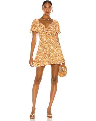 Pomarańczowa sukienka w paski Minkpink