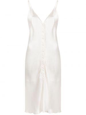 Тонкое платье на пуговицах на бретелях с V-образным вырезом Gold Hawk