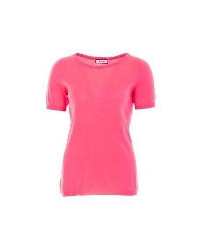 Розовый джемпер шерстяной Moschino