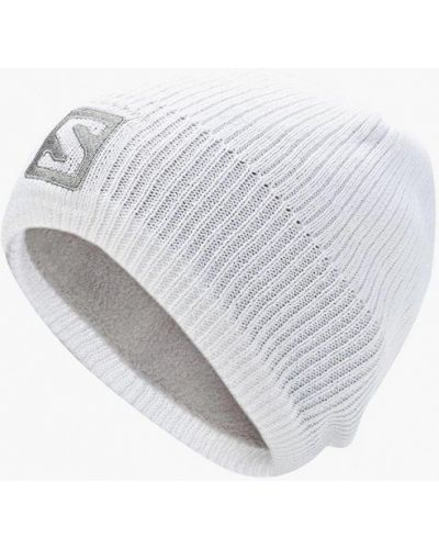 Белая шапка осенняя Salomon