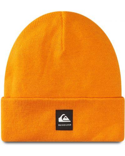 Pomarańczowa czapka z akrylu Quiksilver