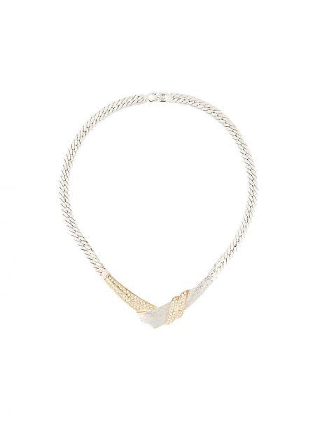 Ожерелье металлическое - серебряное Christian Dior