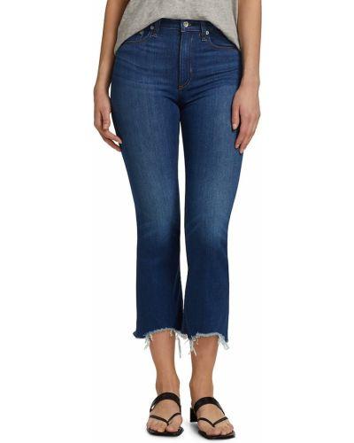 Niebieskie jeansy rurki bawełniane rozkloszowane Rag & Bone