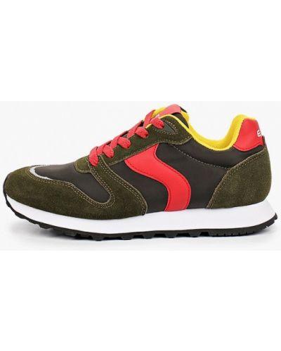 Зеленые кожаные кроссовки Escan