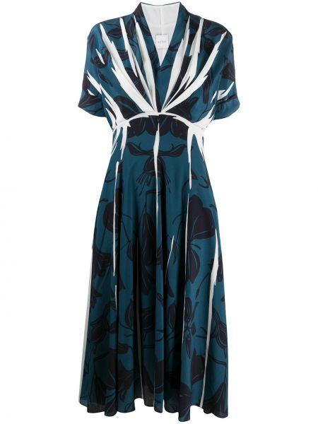 Шифоновое платье макси - синее Paul Smith