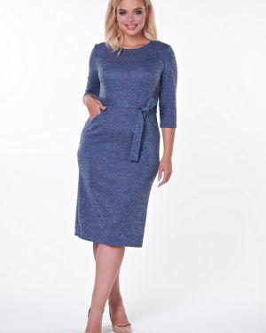 Платье с поясом платье-сарафан из вискозы Valentina