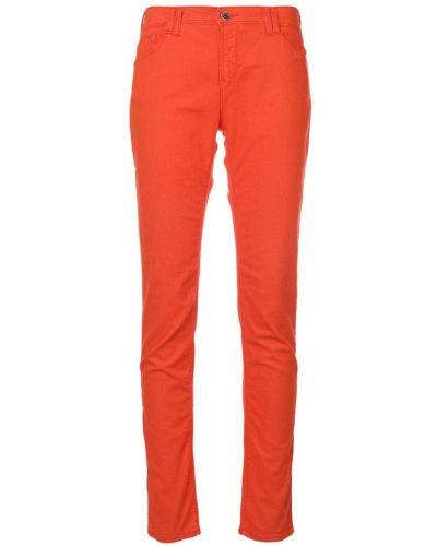 Оранжевые джинсы-скинни Armani Jeans