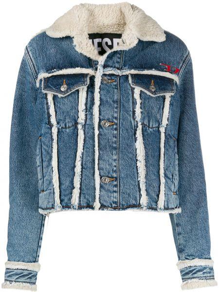 Джинсовая куртка с карманами синий Diesel