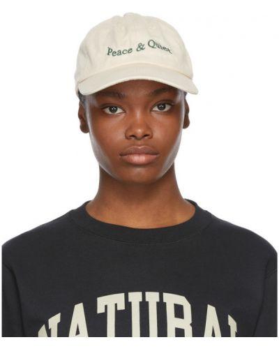 Хлопковая белая кепка с вышивкой Museum Of Peace And Quiet