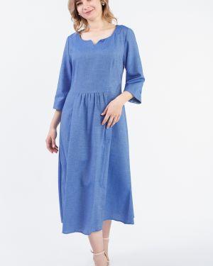 Платье миди через плечо со складками Lacywear