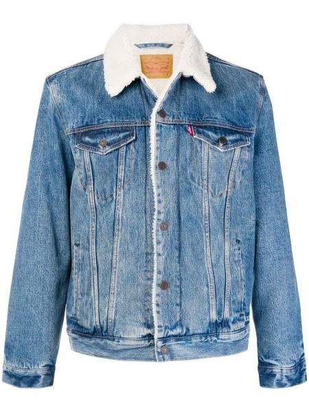 Джинсовая куртка синяя мотокуртка Levi's®