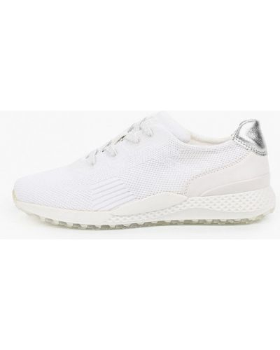Текстильные белые кроссовки Marco Tozzi