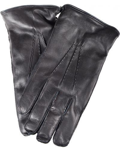 Черные кожаные перчатки Antony Morato