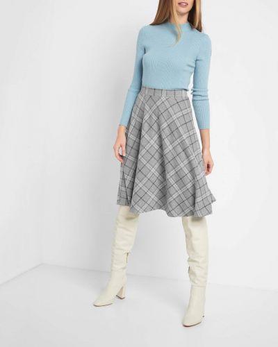 Szary spódnica midi z wiskozy Orsay