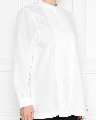 Блузка с длинным рукавом белая свободного кроя Marina Rinaldi
