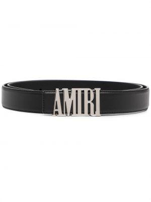 Черный кожаный ремень Amiri