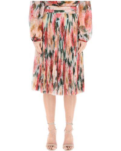 Spódnica midi tiulowa z printem Dolce And Gabbana