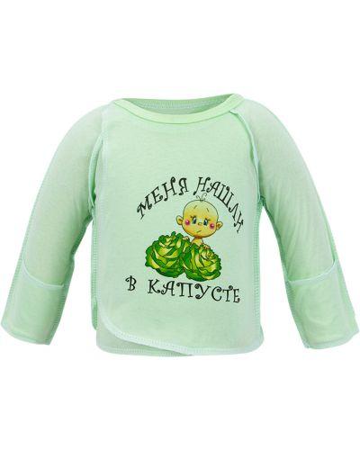 Распашонка зеленый салатовый три медведя