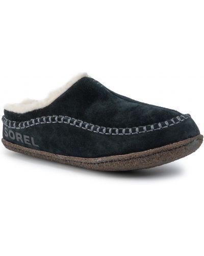 Sandały czarny czerwony Sorel