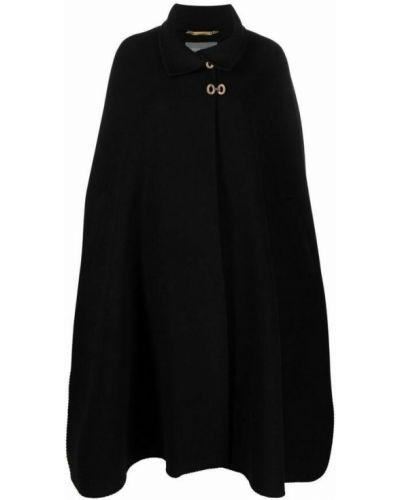 Czarny płaszcz Alberta Ferretti