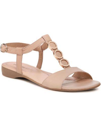 Beżowe złote sandały Lasocki