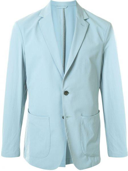 Синий пиджак с заплатками с лацканами с карманами D'urban