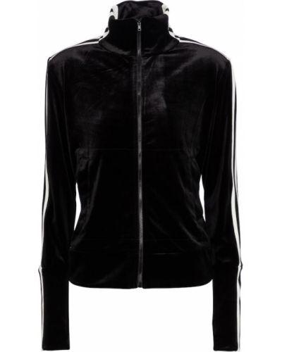 Повседневная бархатная черная куртка Norma Kamali