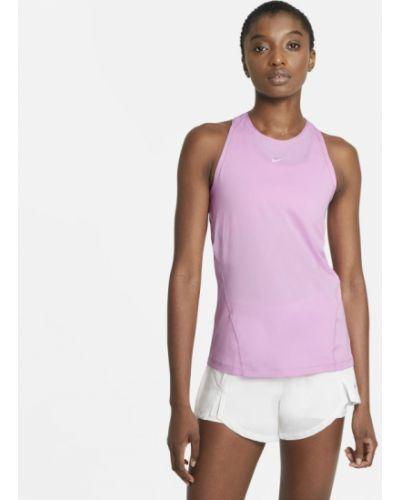 Różowy t-shirt bez rękawów Nike