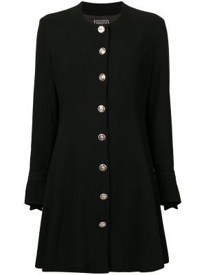 Расклешенное платье с длинными рукавами винтажное на пуговицах Versus Pre-owned