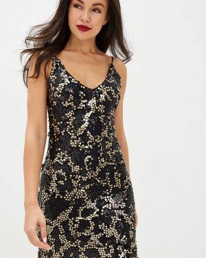 Вечернее платье осеннее черное Imocean