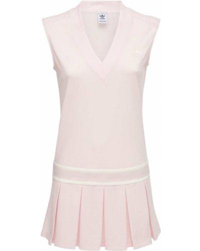 Теннисное розовое платье на резинке Adidas Originals